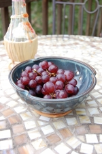 Berry Bowl Colander in Slate Blue