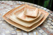 Sunburst Square Plate Set