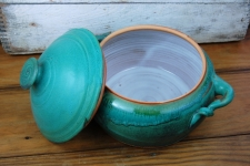 Two Quart Lidded Casserole in Turquoise