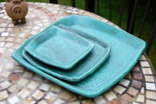 Turquoise 3 Piece Place Setting