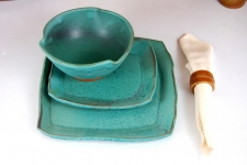 Turquoise Dinnerware Place Setting
