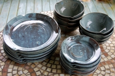 Dinnerware Set for Eight in Slate Blue