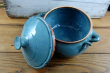 Two Quart Lidded Casserole in Slate Blue