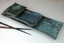 5 Piece Sushi Set in Slate Blue