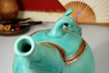 Sprouted Turquoise Teapot