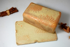 Covered Butter Dish in Sunburst and Sun Texture