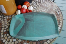 Large Serving Platter in Turquoise