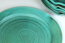 Round Dinner Plate in Turquoise