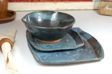 Slate Blue Dinnerware Place Setting