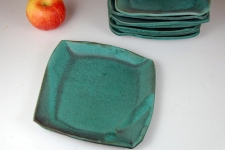Square Lunch Plates in Turquoise