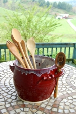 Red Agate Utensil Holder