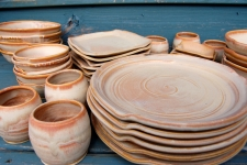 Eclectic Dinnerware Set for Eight in Sunburst