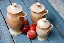 Kitchen Canister Set of Three in Sunburst