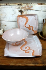 Shale with Rust Waves Dinnerware Place Setting