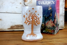 Tree of Life Pint Glass in Shale